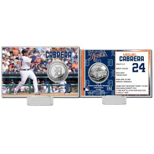 Detroit Tigers Miguel Cabrera Highland Mint Mint Player Silver Collector Coin Card