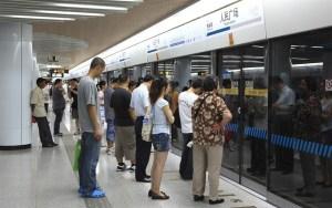 China, Shanghai, Metro, Queue