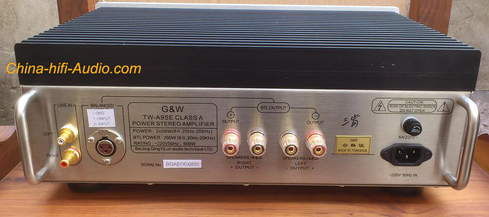 G Amp W Tw A9se Stereo Power Amplifier Single Ended Class A