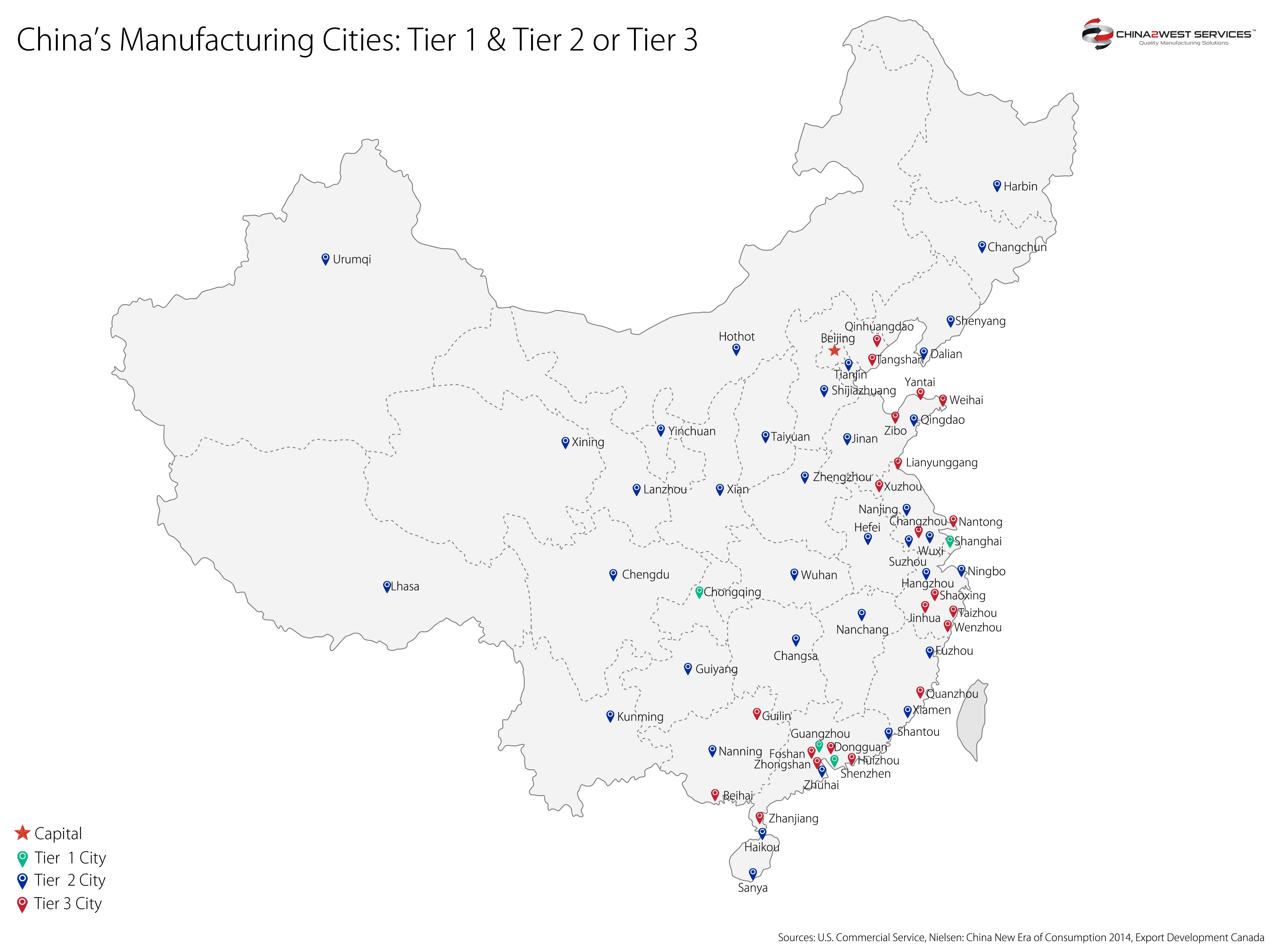 Chinese Us Map