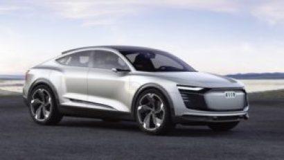 Audi e-tron Sportback concept на дорогах в 2019 году