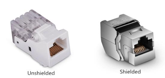 shielded and unshielded toolless keystone jacks