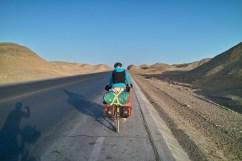 Wüstenstraße in Xinjiang