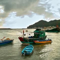 Hafen auf Lantau Island.