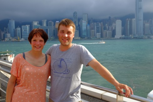 Wir zwei in Kowloon.