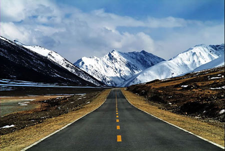 ... the completion of the Qinghai-Tibet Highway and Sichuan-Tibet Highway