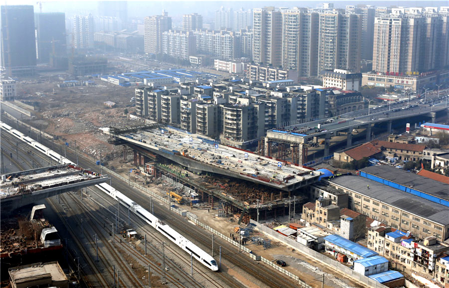Wuhan overpass swings into place