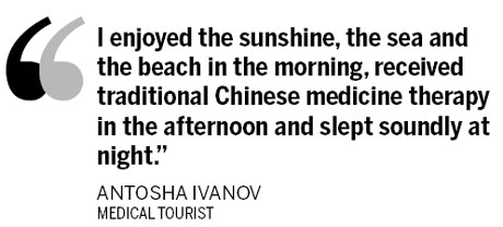 Tourists find cure for what ails them