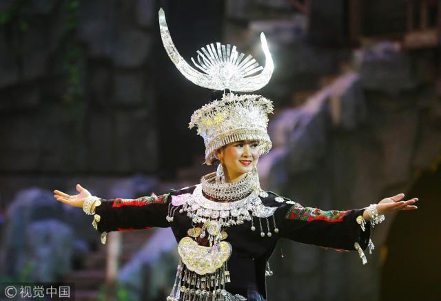 Miao costumes on display at culture festival in Hunan
