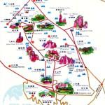 Mt Huangshan Travel Maps 2020 Yellow Mountain Hiking Map