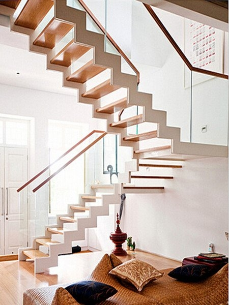 U Shaped Staircase Demax Arch | Double L Shaped Staircase Design | Limited Space | Space Saving Stair | Inner Staircase | Traditional | 90 Degree