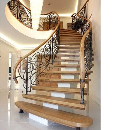 Curved Staircase Curved Stair Demax Arch   Building A Curved Staircase   Indoor   36 Inch Diameter   Garage   Circular   Outside