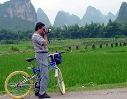 Biking in Yangshuo countryside