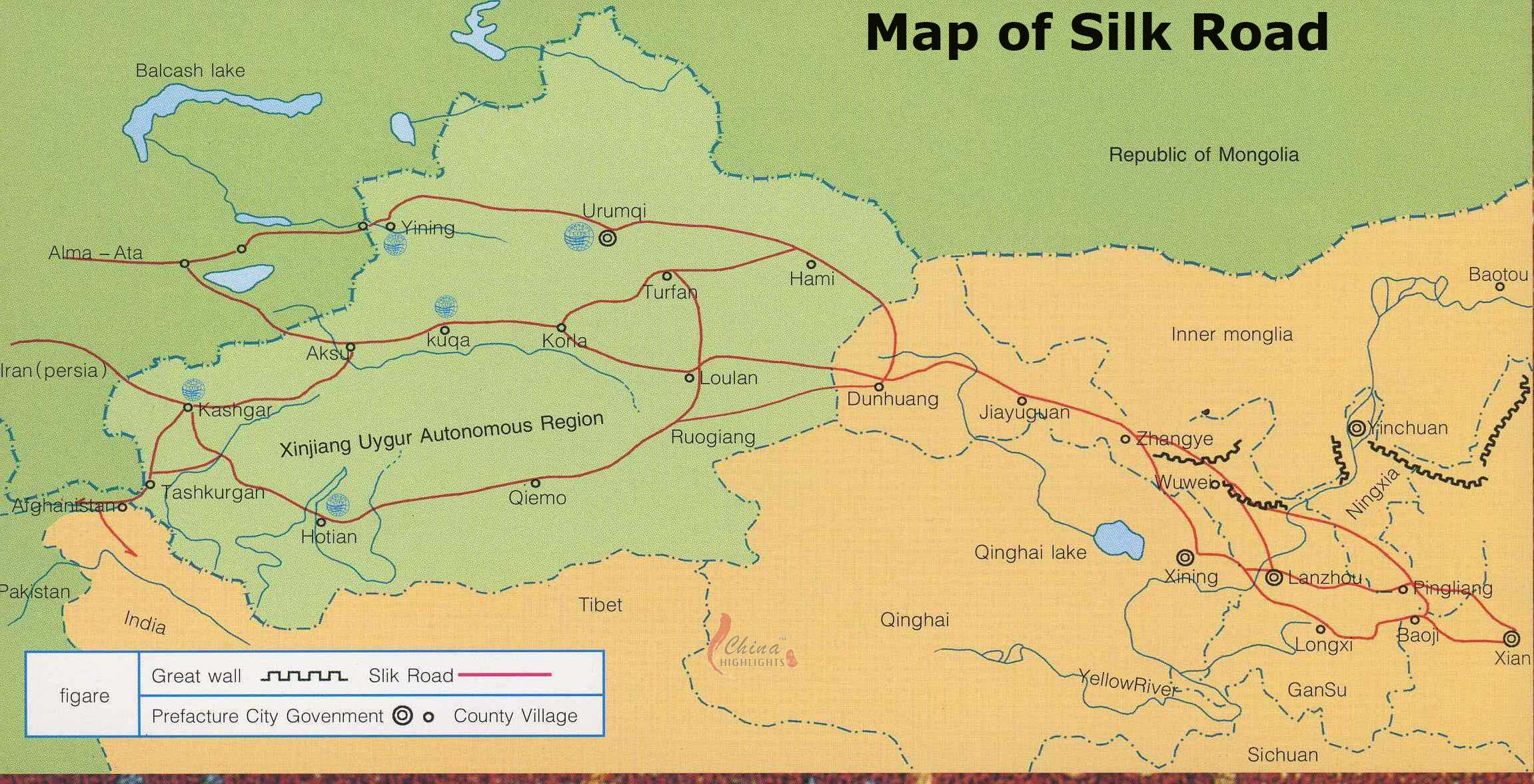 Silk Road Maps A Map Hepls Your Explore The Silk Road Adventure