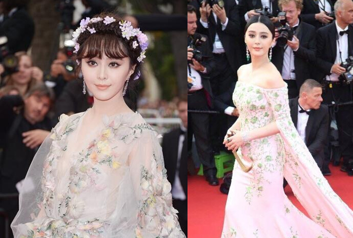 Los vestidos de Fan Bingbing en Cannes