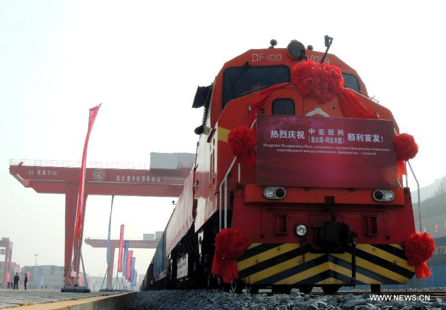 Tren de carga de noroeste de China se conecta con Kazajistán