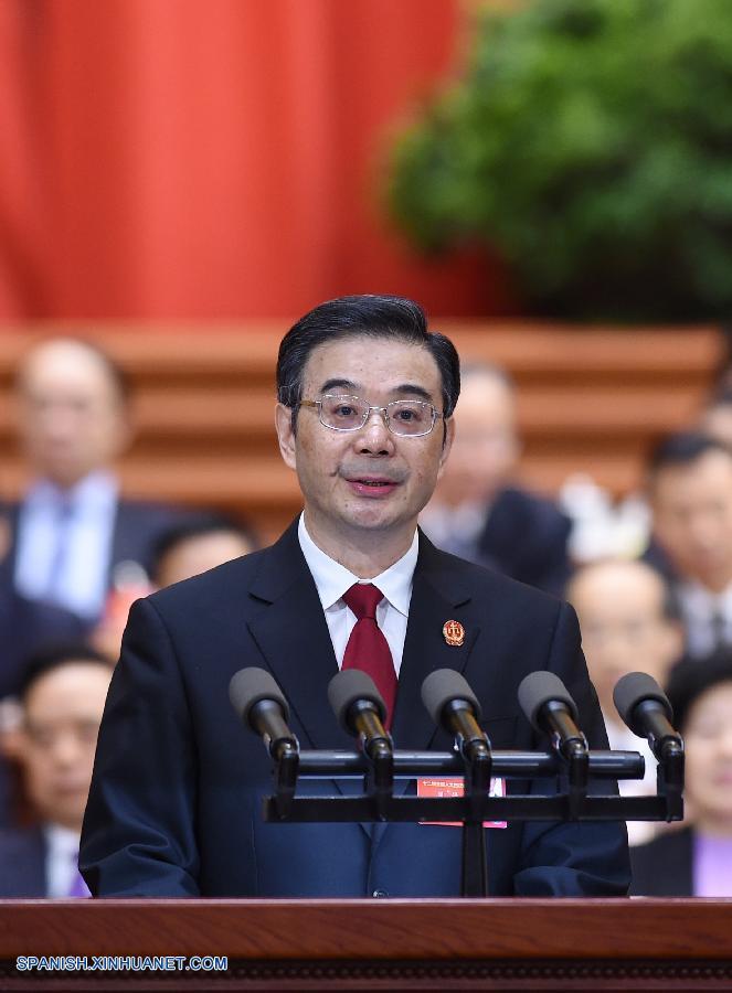 Legisladores chinos presentan 462 mociones en sesión parlamentaria de 2016