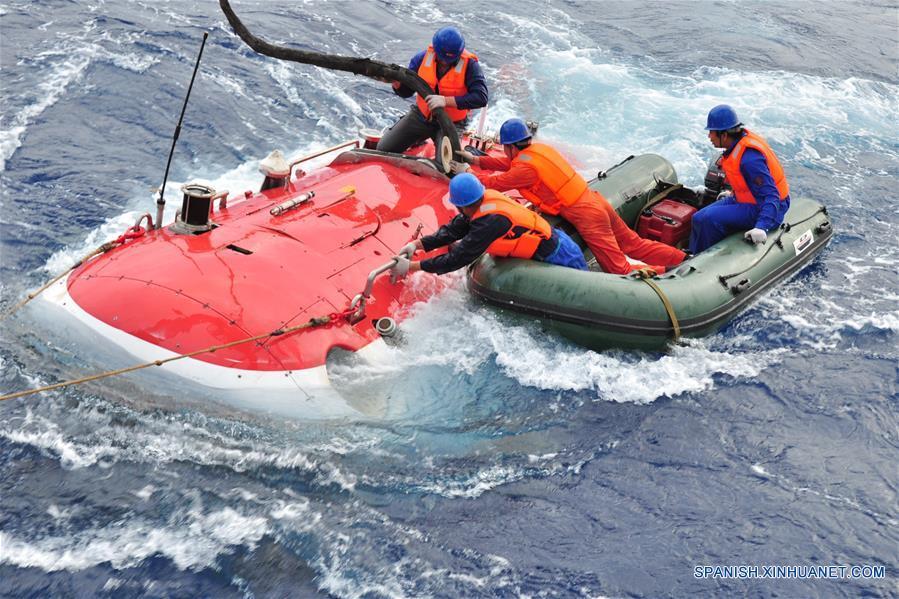 """Sumergible chino """"Jiaolong"""" termina expedición en Yap Trench"""