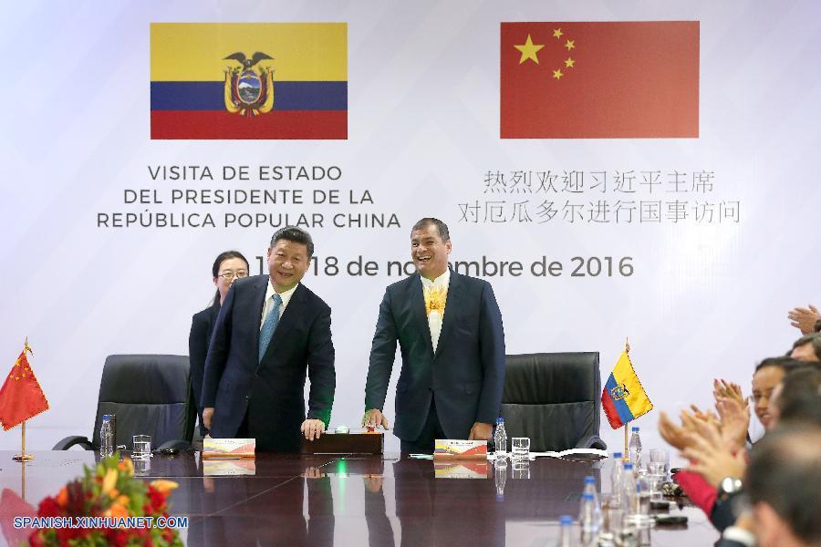 Presidente chino promete a Ecuador más apoyo para reconstrucción tras sismo