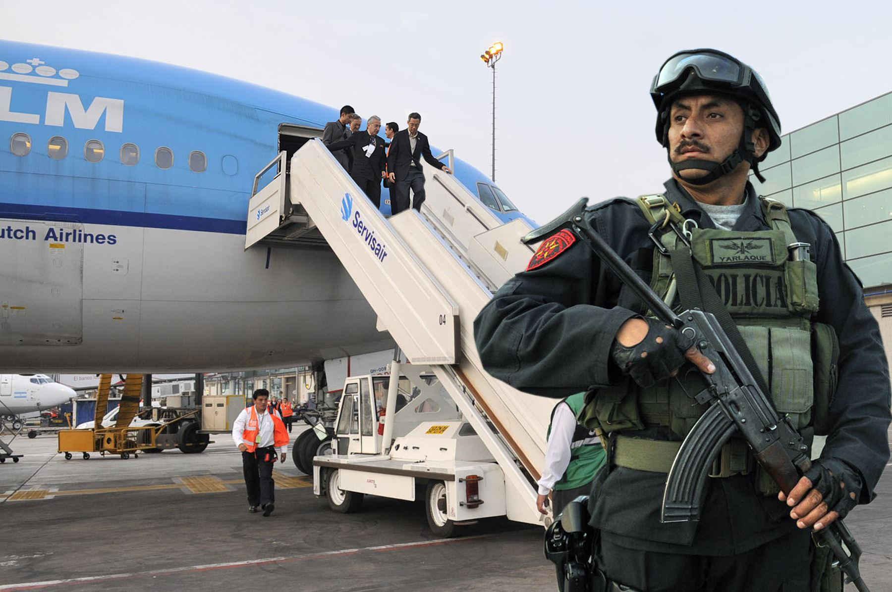 Policías y militares de Perú refuerzan seguridad para cita de APEC