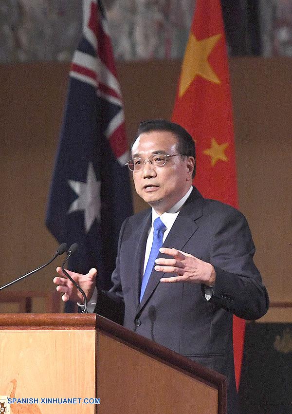 China se unirá a Australia para promover globalización económica, dice premier Li
