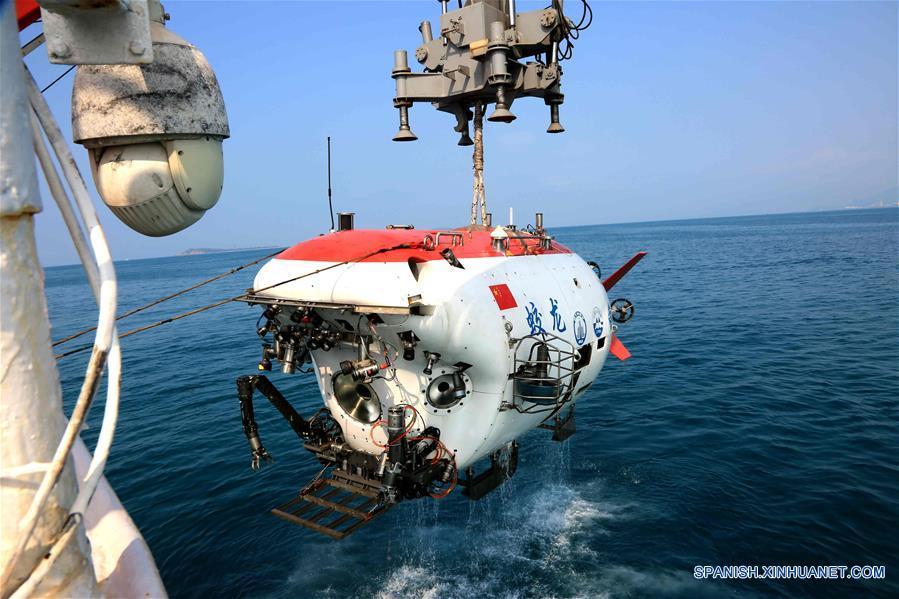 Prueban sumergible chino Jiaolong antes de inmersión en Mar Meridional de China