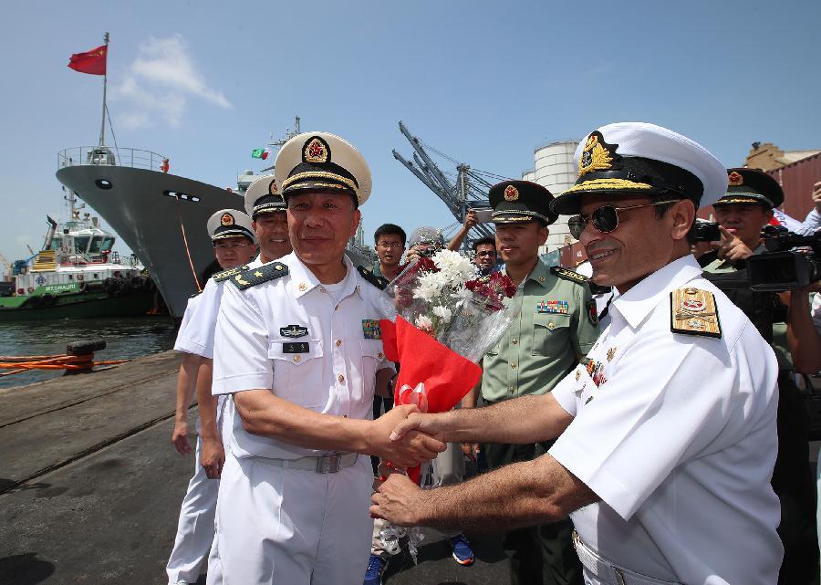 Flota naval china visita Pakistán