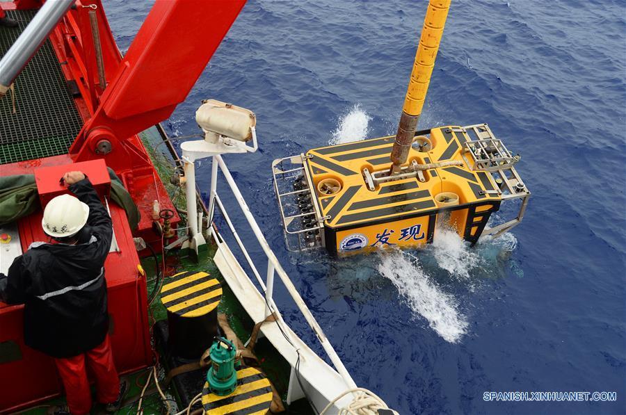 Vehículo Discovery de China recoge muestras en oeste de océano Pacífico