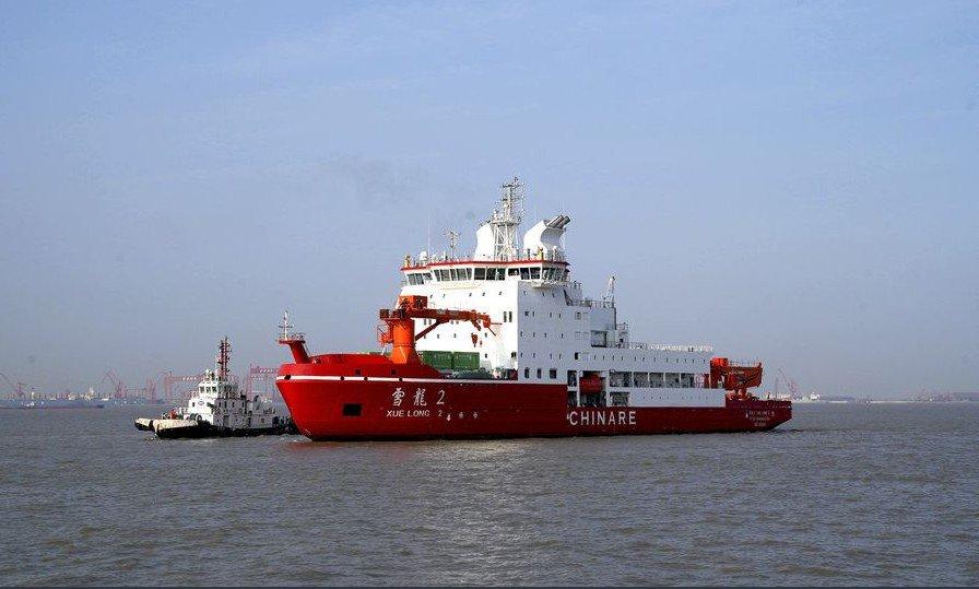 Primer rompehielos polar de fabricación nacional de China comenzará viaje inaugural en octubre