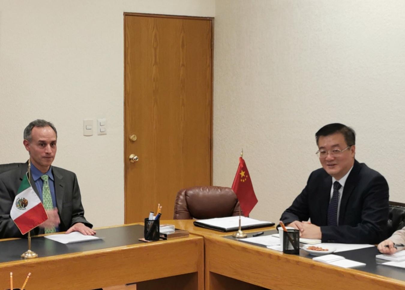 Embajador de China en México se reúne con subsecretario de Prevención y Promoción de Salud de México