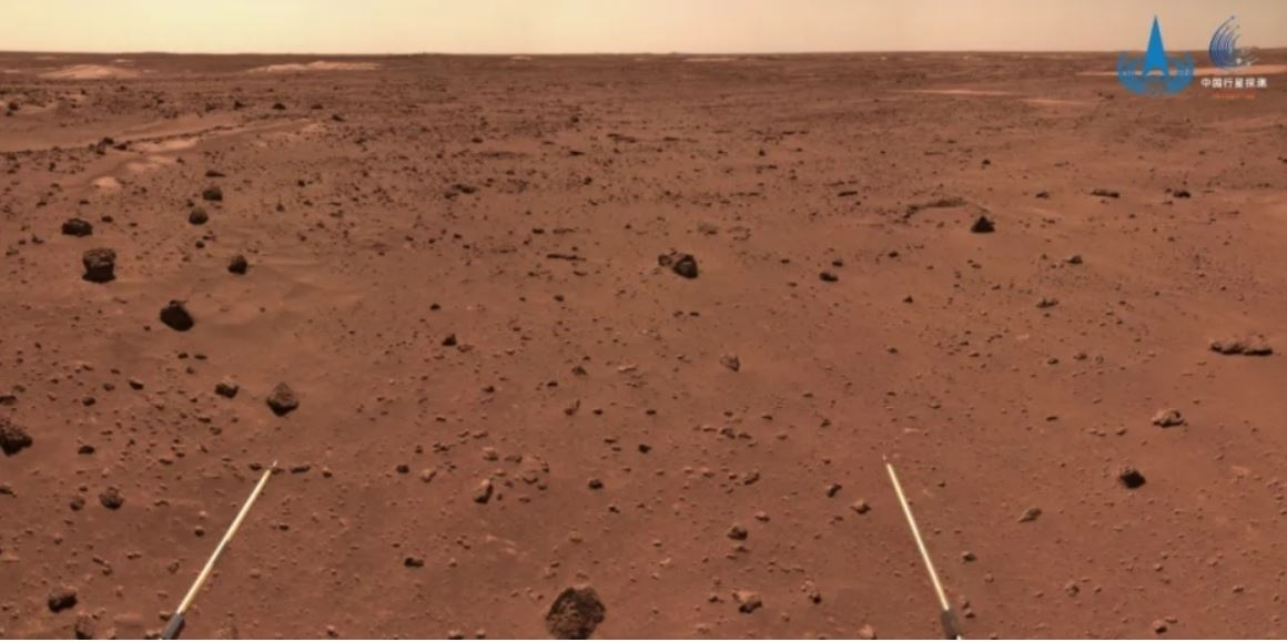 Vehículo explorador chino Zhurong llega a terreno complejo en superficie de Marte