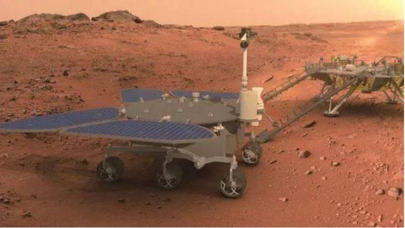 Vehículo explorador chino en Marte recorre 585 metros en el planeta rojo