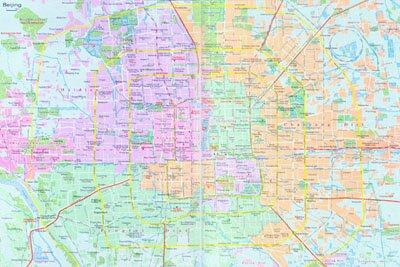 Beijing Maps  Detailed Beijinjg Map  Beijing Travel Map  Beijing     Beijing City Map 2
