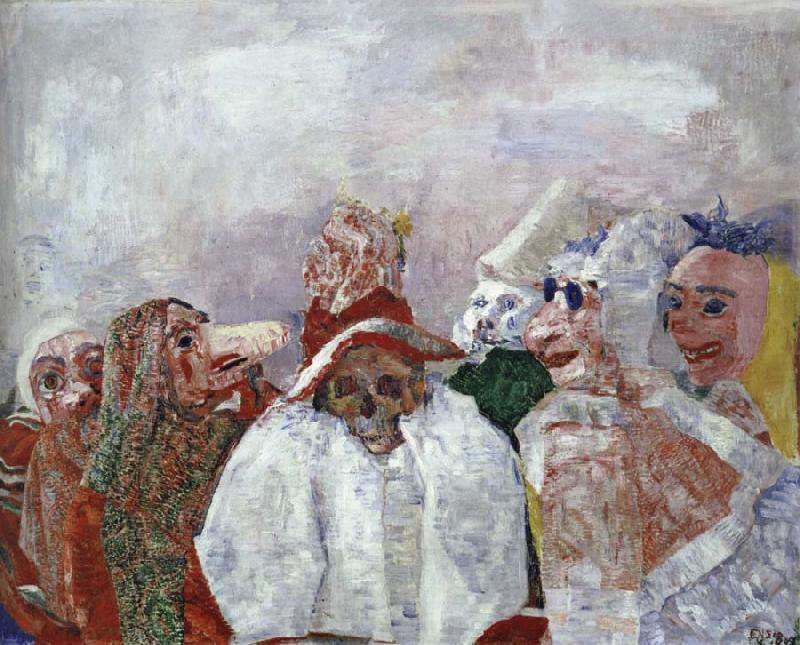 James Ensor1860-1949Máscaras enfrentando a Morte1888
