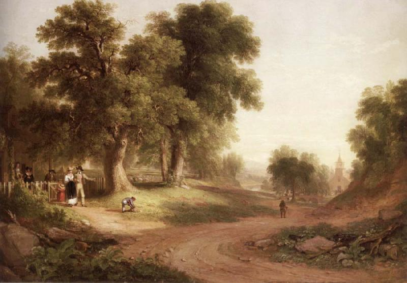 Asher Brown Durand Sunday Morning oil painting picture