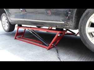 Product Video - 2.5 T Capacity Portable Scissor Car Lift,U-H25A Low-Rise Car Lift - 5,500-lb Capacity Pantograph Scissor Lift