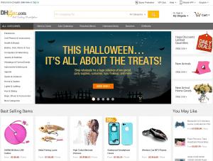 Screenshot van de website van DhGate