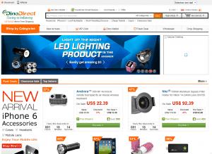 Screenshot van de website van DinoDirect