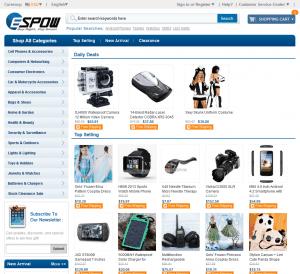 screenshot van de website van espow