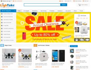 screenshot van de website van lightake