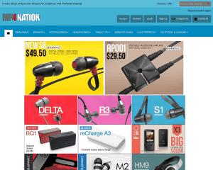 screenshot van de website van mp4nation