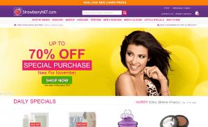 screenshot van de website van strawberrynet.com