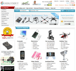 screenshot van de website van goodluckbuy
