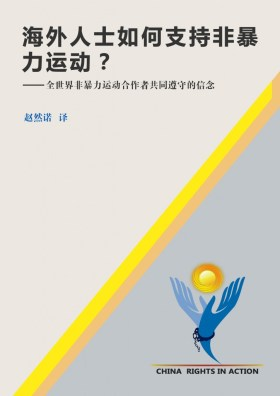 《海外人士如何支持非暴力运动》封面