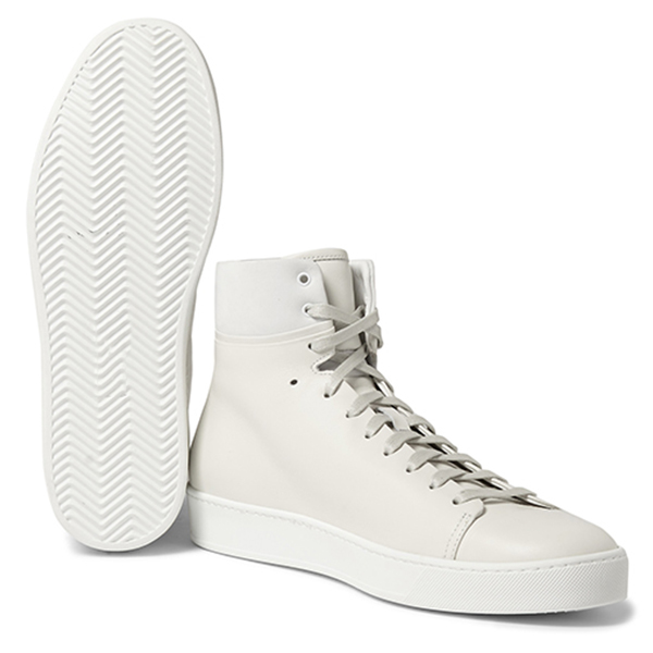 Mens White High Top Sneakers (3)