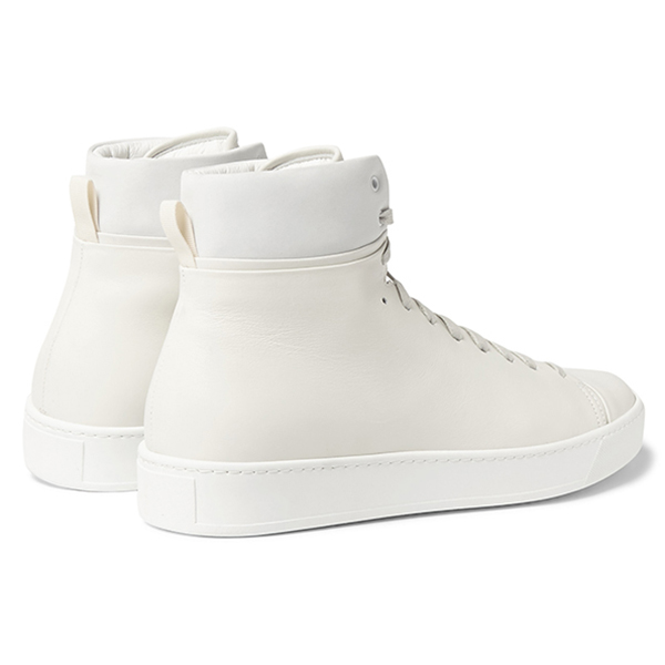 Mens White High Top Sneakers (4)
