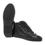 Womens All Black High Top Sneakers (3)