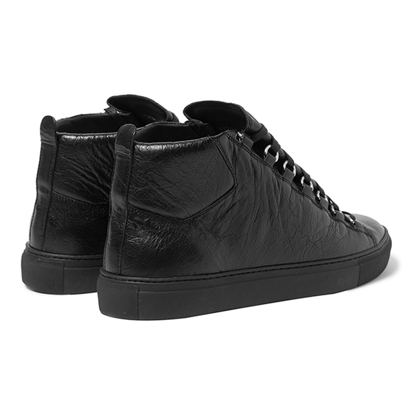 Womens All Black High Top Sneakers (4)