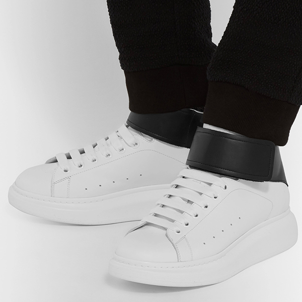 Leather High Top Sneakers (2)