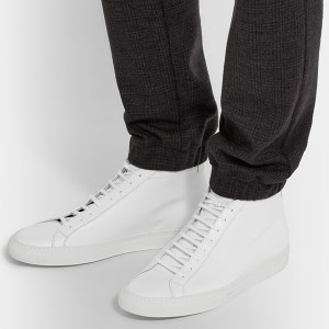 Womens White High Top Sneakers (2)